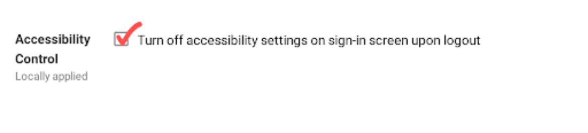 Accessibility Control