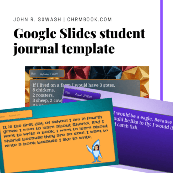 Student journal template