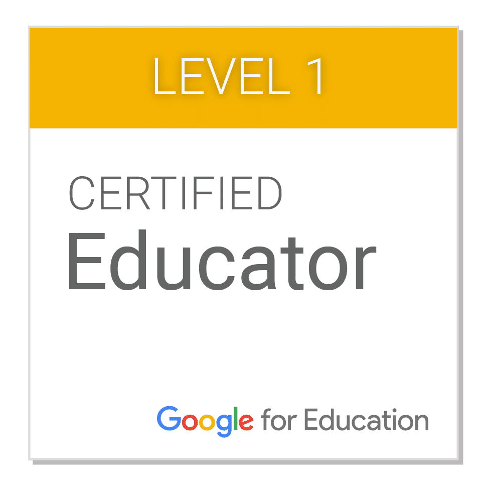 Google Educator Level 1