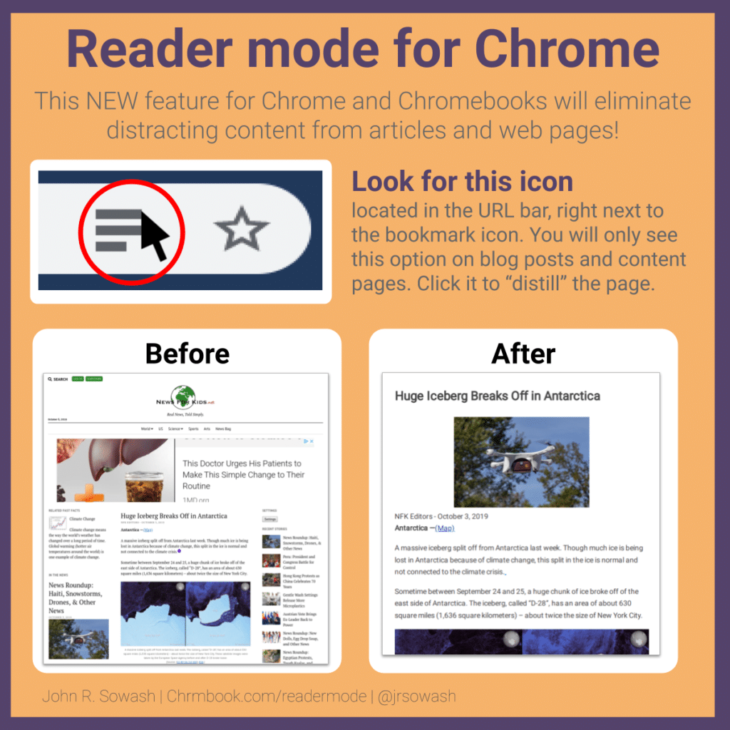Reader mode for Chrome