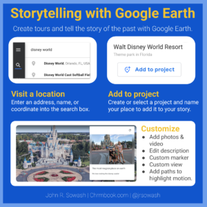 Instructions: tell stories with Google Earth