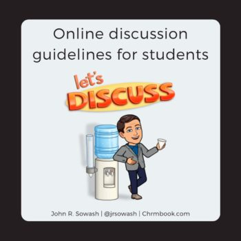 Online discussion guidelines for students