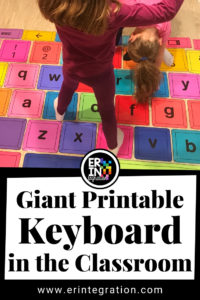 Giant Printable Chromebook Keyboard