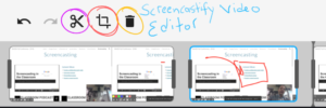 Screencastify editor