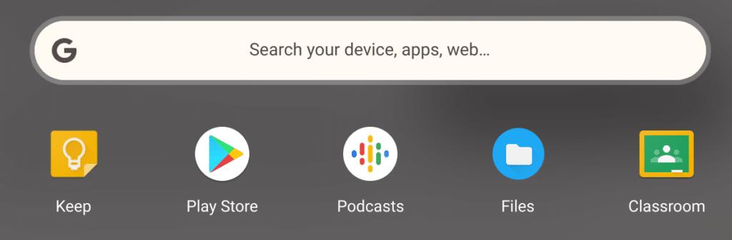 Chrome App Launcher on a Chromebook