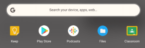 Chrome App Launcher on a Chromebook