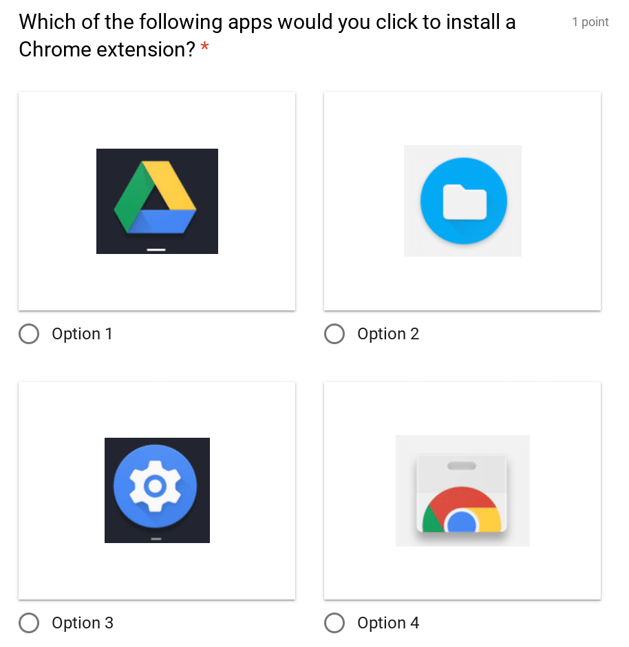 Chromebook Quiz - Icons