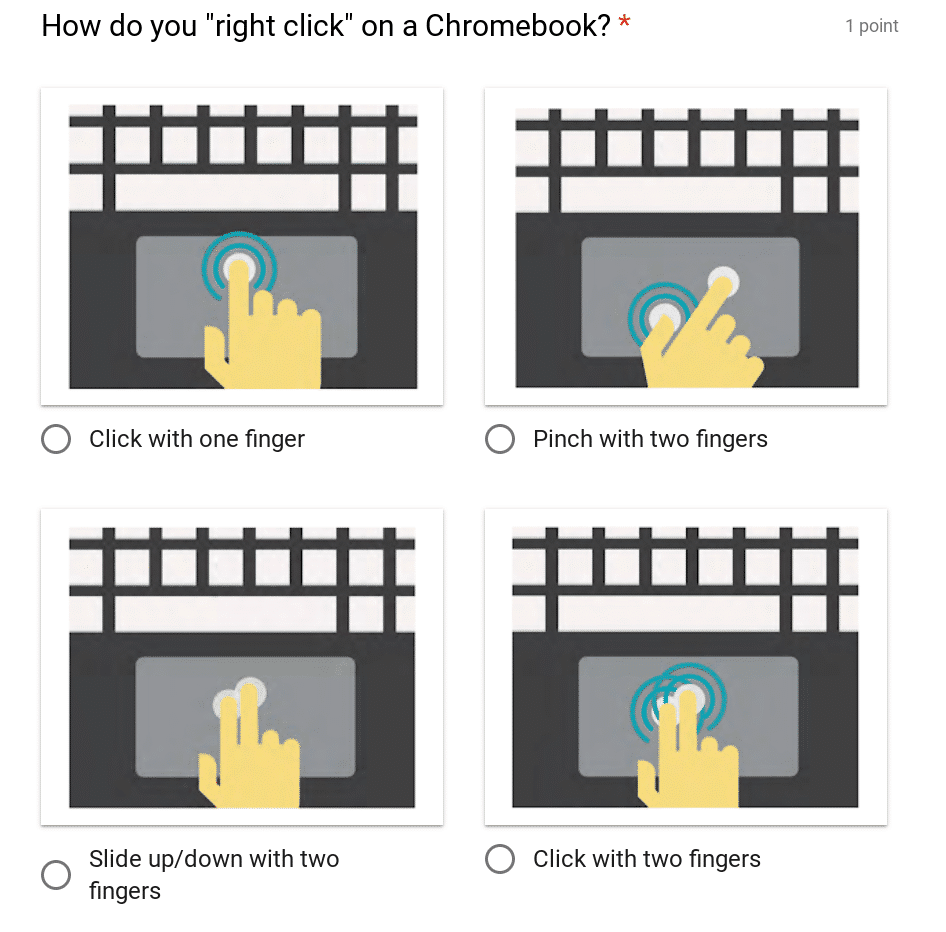 Chromebook Quiz - trackpad