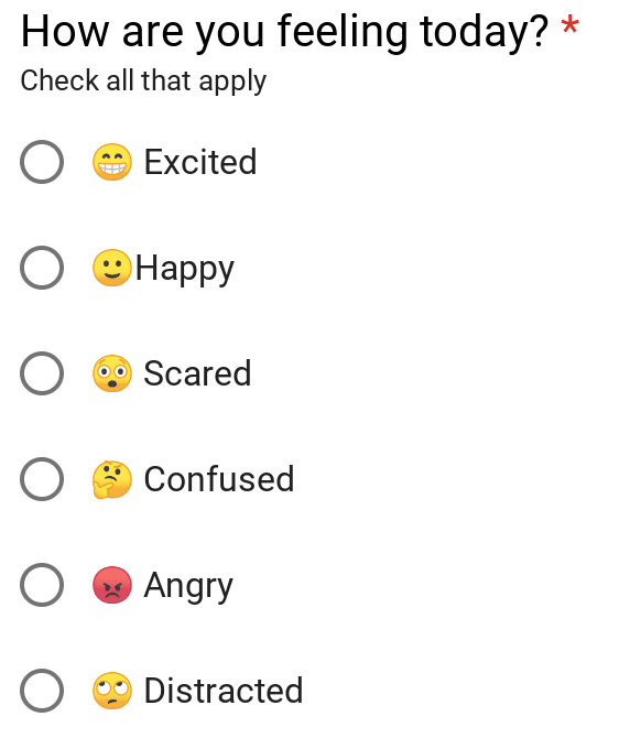 Emoji in Google Forms