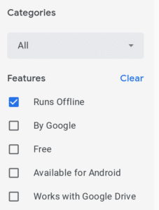 Working offline on your chromebook - Chrome apps