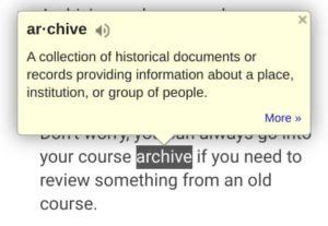 Google Dictionary - ELA resources for the Classroom