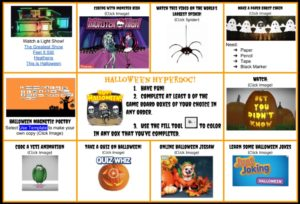 Halloween Choice Board