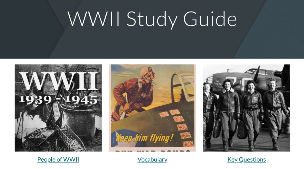 Google Site as a study guide