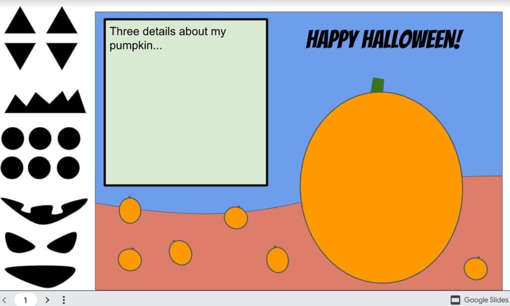 Google Slide pumpkin carving