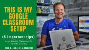 Teaching online with Google Classroom