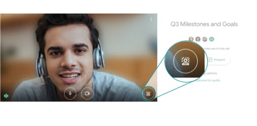 background blur for Google Meet