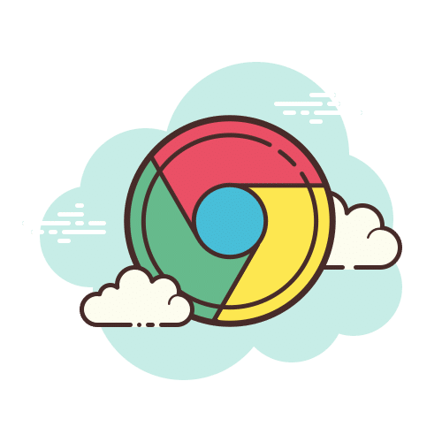 Chrome Logo with clouds