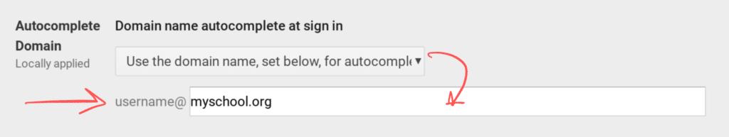 Chromebook Domain Autocomplete
