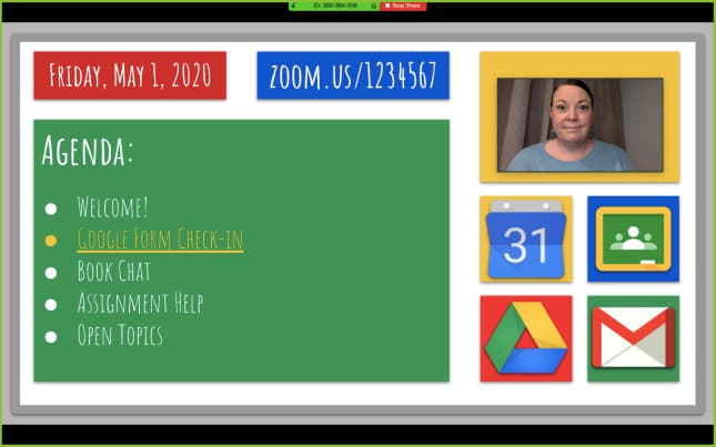 Virtual meeting whiteboard by Laura Cahill